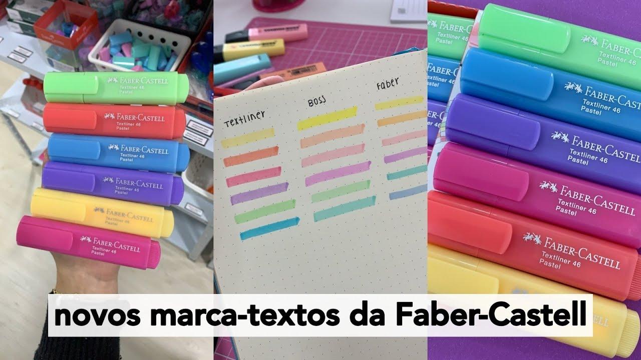 A FABER-CASTELL lançou novos MARCA-TEXTOS e eles são LINDOS!