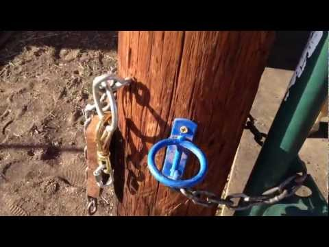chain link fence hook up