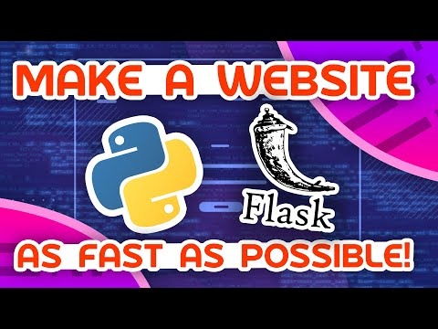 Make A Python Website As Fast As Possible!