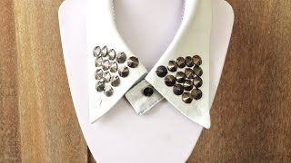 How To Make a Simple Old T - DIY Shirt Collar Necklace Tutorial - Style