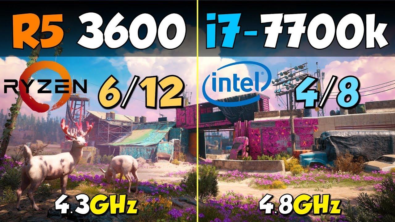 Ryzen 5 3600 vs. i7-7700K
