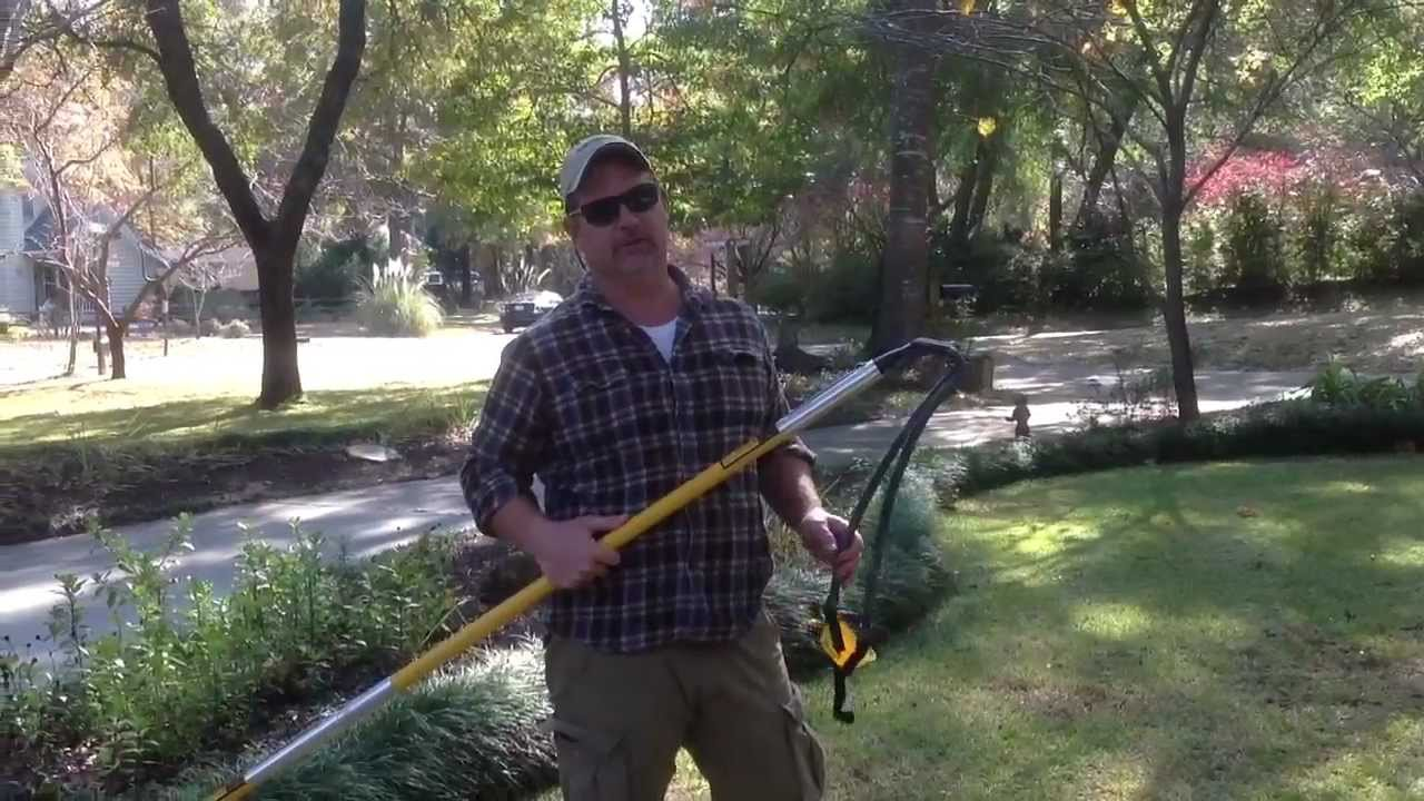 How to Hang Christmas Lights with Slingshot into Tree - YouTube