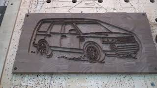 Board with the image of Land Rover