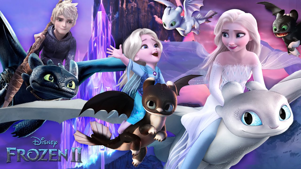 Frozen 2: Elsa and Jack Frost have a daughter - and Dragons!❄💙 Disney Frozen 2 | Alice Edit!