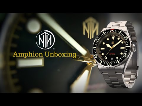 NTH Amphion - Vintage Gilt - Unboxing 300m Dive Watch - Well Made - Handsome
