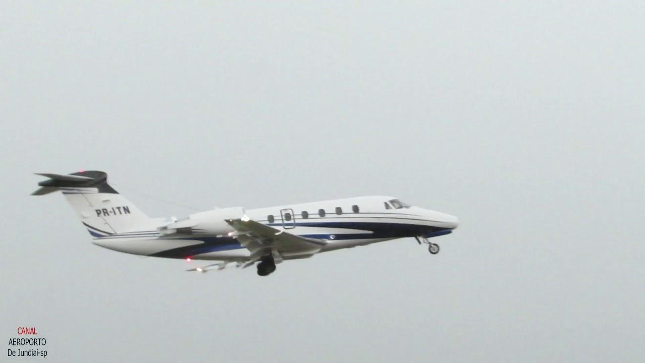 Cessna Citation III Decolagem Incrível Em Meio Um Grande Temporal(Tromba D,água,Grande Perícia