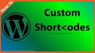 видео Custom Shortcodes