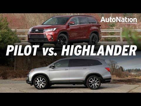 2019 Toyota Highlander vs Honda Pilot - Crossovers Compared #autonationdrive