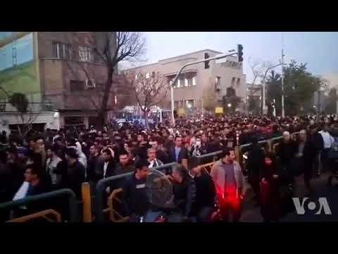 Iran 30 Dec 17 people of Tehran chant death to basiji