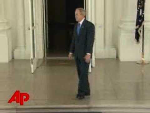 Raw Video: Bush Tap Dances