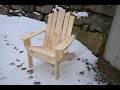 Simple Adirondack Chair Construction Highlights