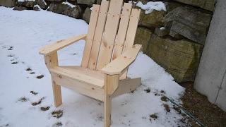 Simple Adirondack Chair Construction Highlights
