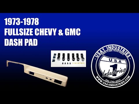 1973-78 Chevy & GMC Truck Dash Pad