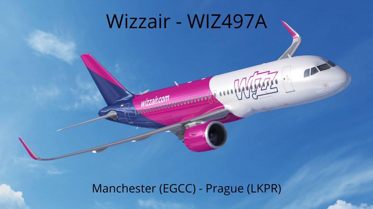 [P3D V4] Wizzair - WIZ497A | Manchester (EGCC) - Prague (LKPR) | Aerosoft A320