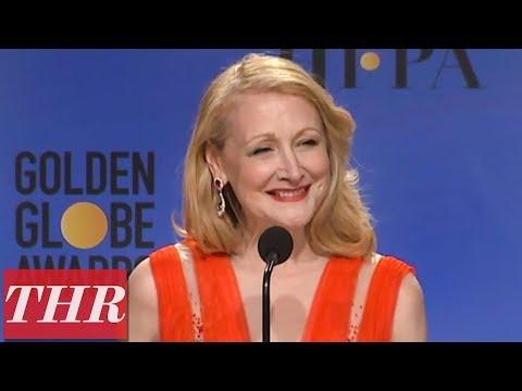 Golden Globes Winner Patricia Clarkson Full Press Room Speech | THR