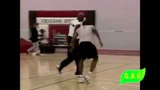 Michael Jordan Workout with chicago bulls 1 on 1 with teammates in cool aj14  + Interview