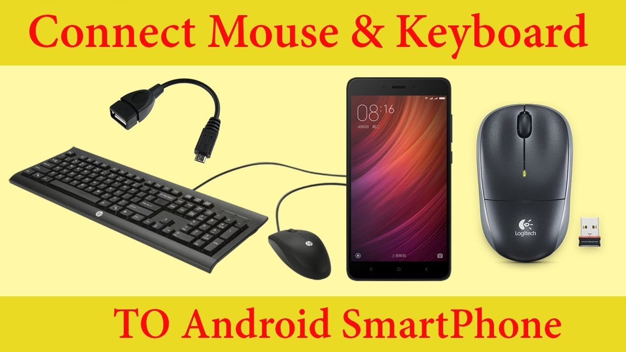 5929b2857b8 how to connect mouse and Keyboard to android Smartphone - YouTube