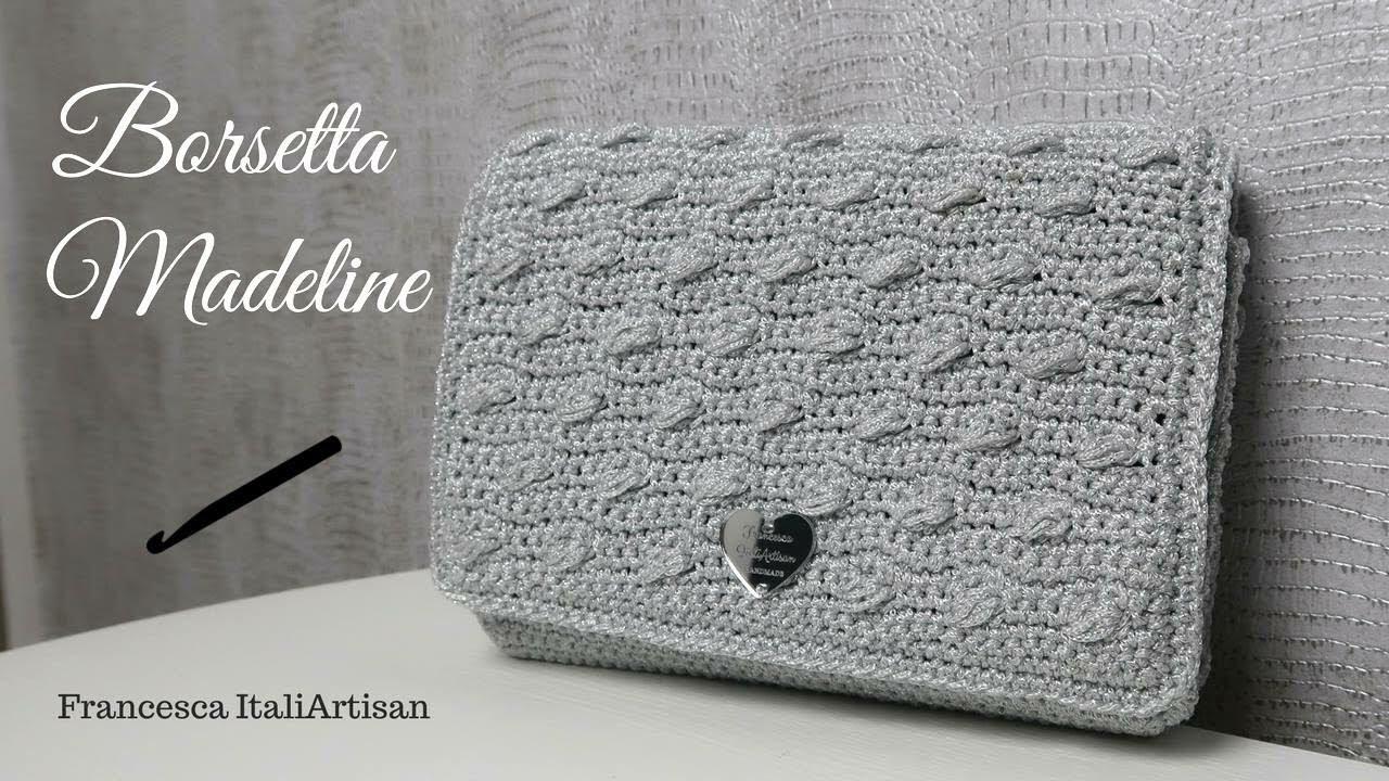 Borsetta Madeline Pochette Elegante In Cordino Macrame Crochet