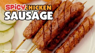 Spicy Chicken Sausage  Hot & Spicy Recipe