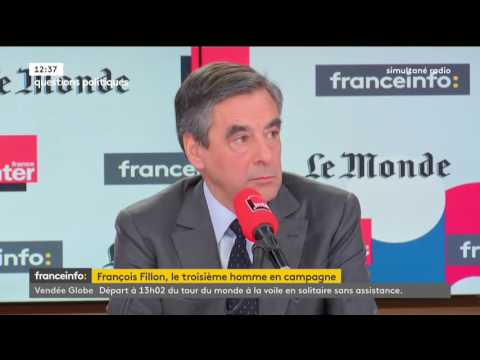 """Ma conviction est que je serai au 2nd tour"" - François Fillon"