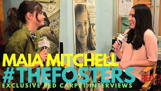 maia mitchell interviewed on the set of freeform s the fosters for s4 castinterviews thefosters
