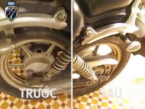 Nano Siêu Ch?ng G? Sét - ?ng d?ng trên xe Yamaha Virago - NANOPROTECH.VN