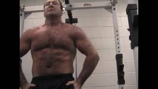Gym Daddy Flexing Hairy Chest Hot Gay Muscles