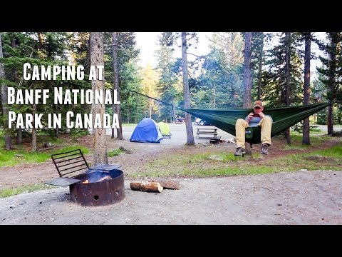 Camping At Banff National Park in Canada