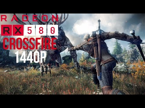 Crossfire RX 580 Witcher 3 1440p Benchmark #PGNETWORK