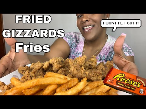 Fried Chicken Gizzards With Seasoned Fries Extreme Burping Eat