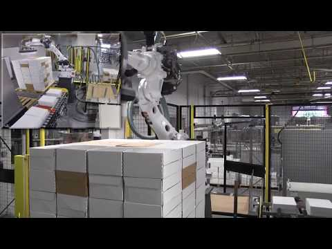 Arpac Arbot Robotic Palletizer Palletizing Pill Bottles | ProPac.com