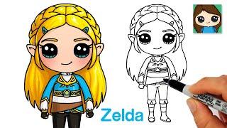 How to Draw Princess Zelda | The Legend of Zelda | Breath of the Wild