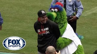 The Phillie Phanatic arrested Jose Fernandez