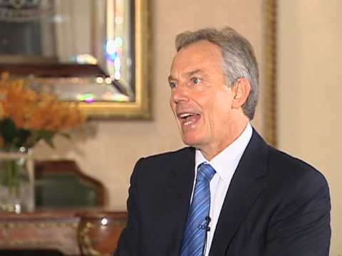 Blair Calls for Restraint from Israelis, Palestinians