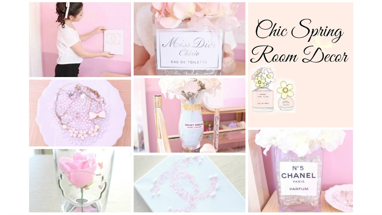 Diy projects with mason jars - Chic Spring Room Decor Girly Amp Diy Youtube