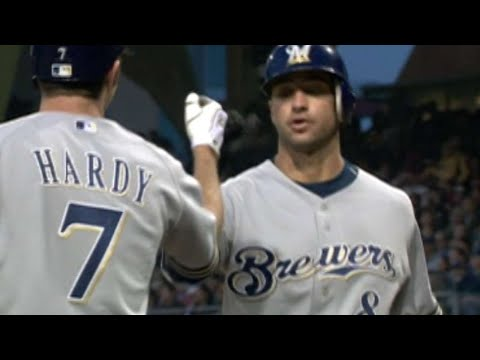 MIL@SD: Braun hits solo homer for first of career