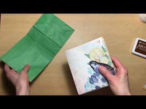 Serene Flora Paper Bag Journal Tutorial