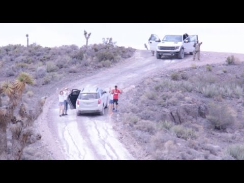 Tourists Family Arrested by Cammo Dudes for Driving Through Main Entrance of Area 51 - FindingUFO
