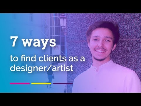 How to find clients as designer or artist?