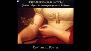 Blondeau - Quatuor En La Majeur D