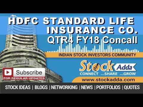 HDFC Standard Life Insurance Company Ltd Investors Conference Call Q4FY18