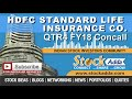 HDFC Standard Life Insurance Company Ltd Investors Conference Call Q4FY18