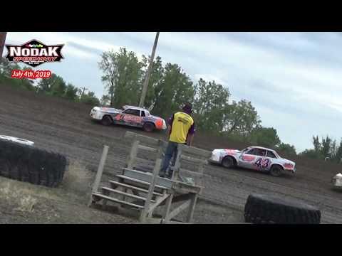 Nodak Speedway IMCA Hobby Stock Heats (7/4/19)