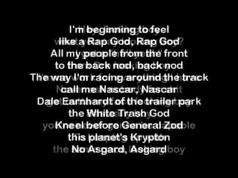 Eminem -  Rap God - testo con sottotitoli