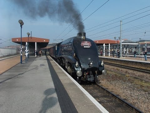 H-R-D SPECIAL 225TH VIDEO!!!!!!!!! 60007 Sir Nigel Gresley The Cathedrals Express 29/3/2014