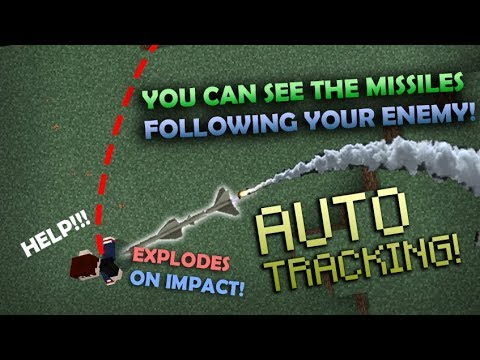 How To Make TRACKER MISSILES With Command Blocks In Minecraft PE