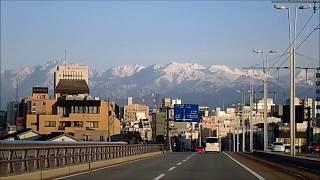県道44号線(県道富山高岡線)から立山連峰を車載カメラで撮ってみた!