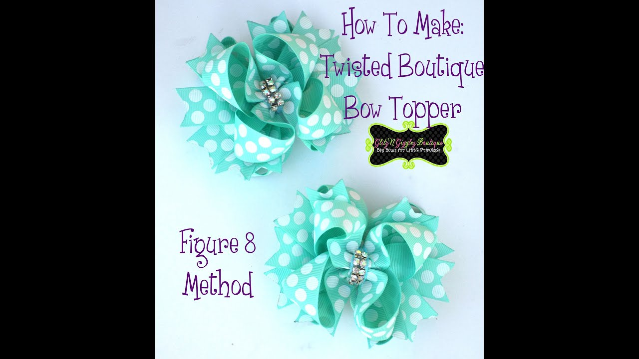 boutique style hair bow tutorial how to make a twisted boutique bow tbb figure 8 method 6832