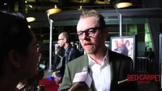 Simon Pegg at the LA Premiere of Kill Me Three Times Interview #KillMeThreeTimes