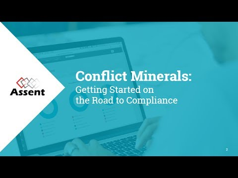 [Webinar] Conflict Minerals: Getting Started on the Road to Compliance